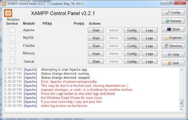Download XAMPP 1.8.2 FULL miễn phí cho hệ điều hành Windows 32bit