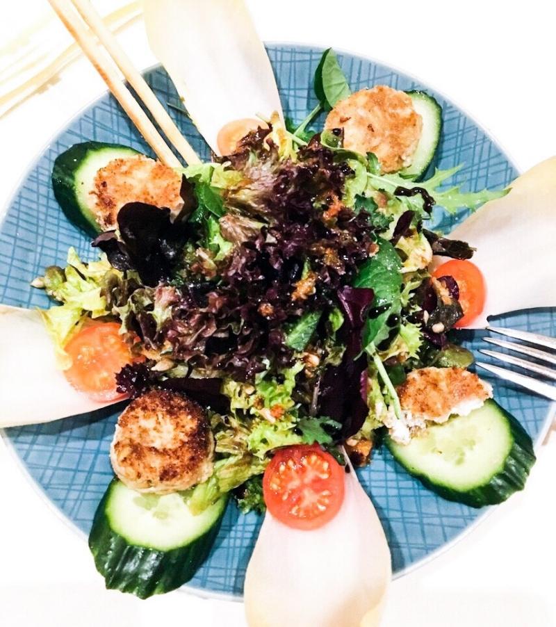 nourishing healthy salad bowl idea, lunch dinner salad inspiration