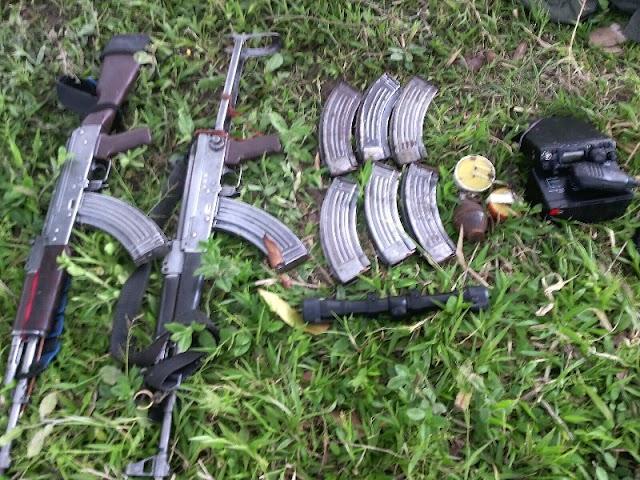 Cuatro personas capturadas por porte ilegal de armas en Madrid, Cund. y Rioblanco, Tol.