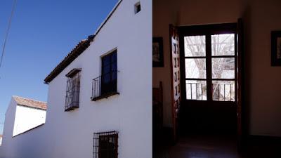 Fachada lateral y balcón de la casa de Cervantes en Esquivias