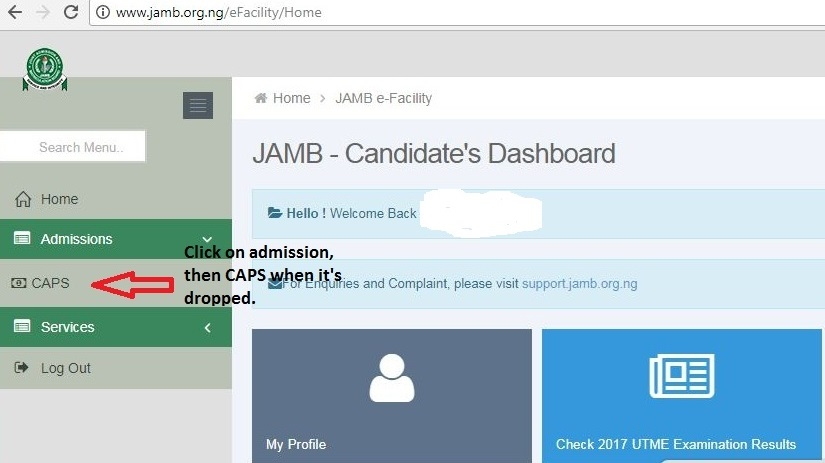 Visit https   www.jamb.org.ng eFacility Login and sign in using your  credentials (email and password) 6be7def996a