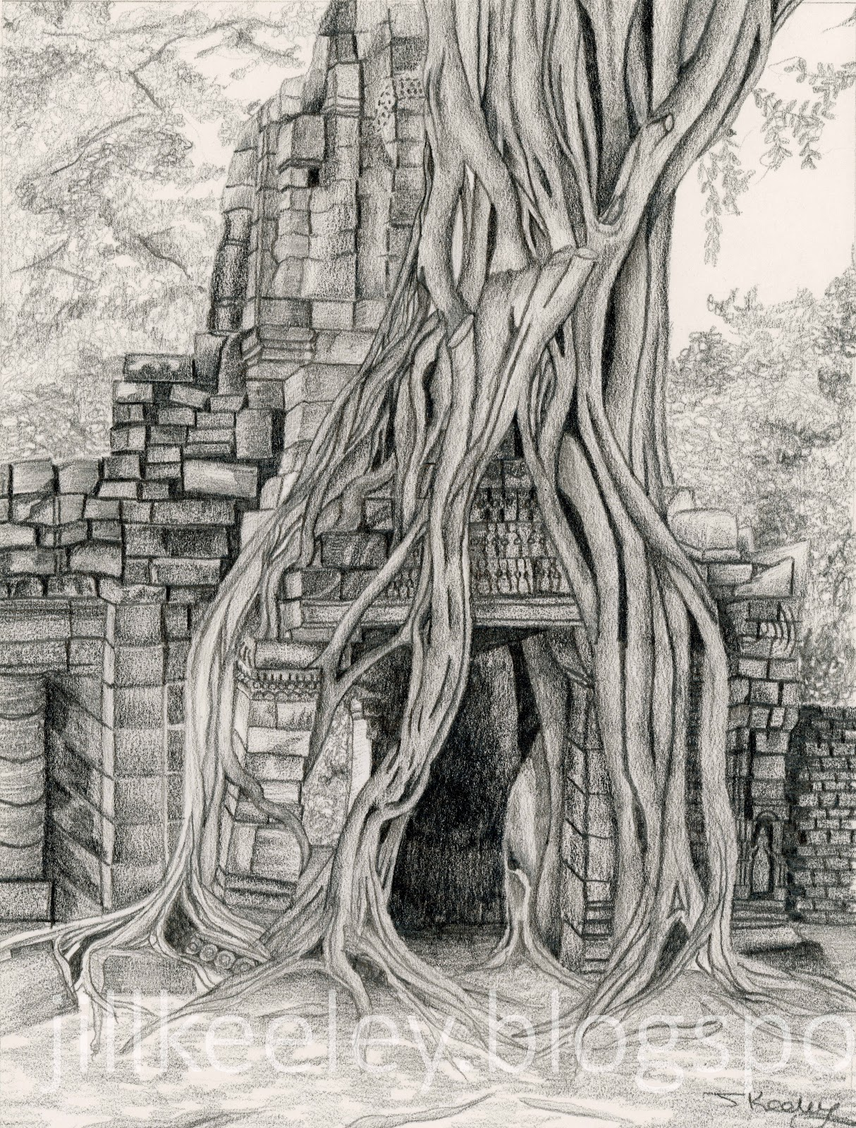 It is an image of Universal Angkor Wat Drawing