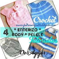 bodys de bebes a dos agujas y a crochet