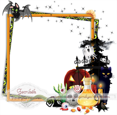 ~~ Halloween spooky cluster frame