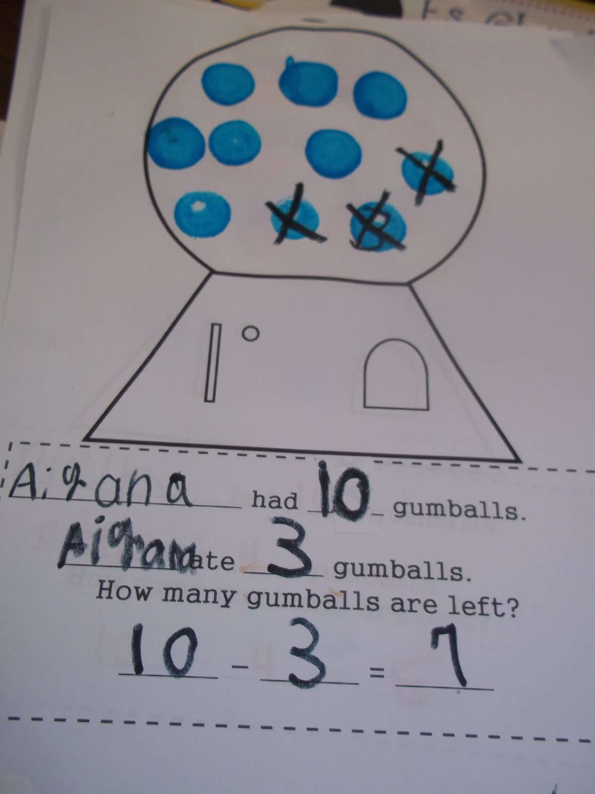 Mrs Wood S Kindergarten Class Bubble Gum Math