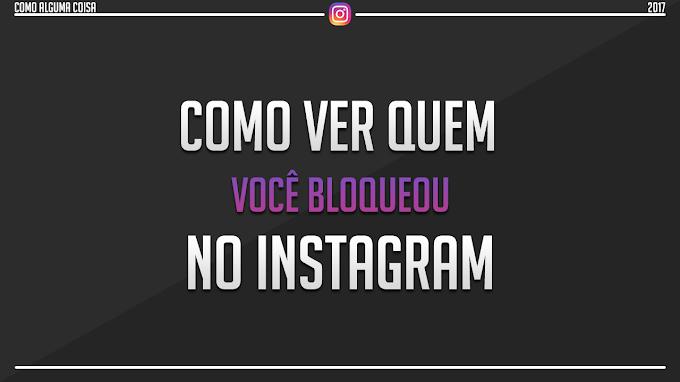 Como ver quem você bloqueou no Instagram