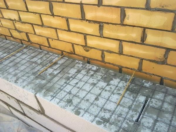 Облицовка стен из блоков кирпичом