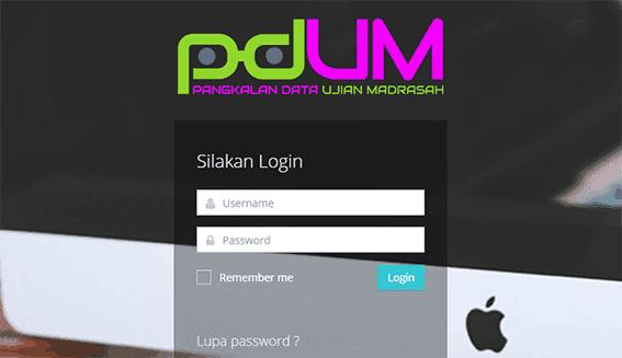 Halaman Login PDUM
