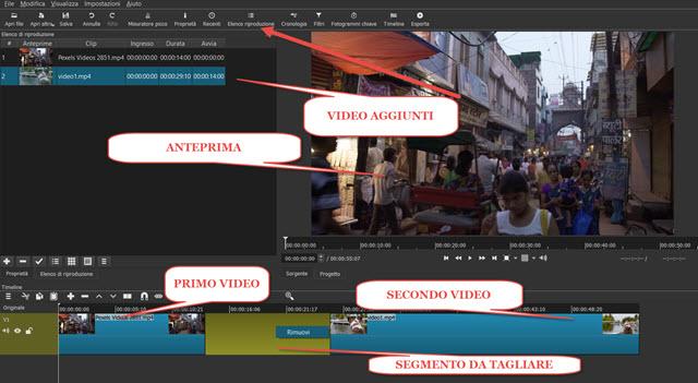 shotcut-interfaccia