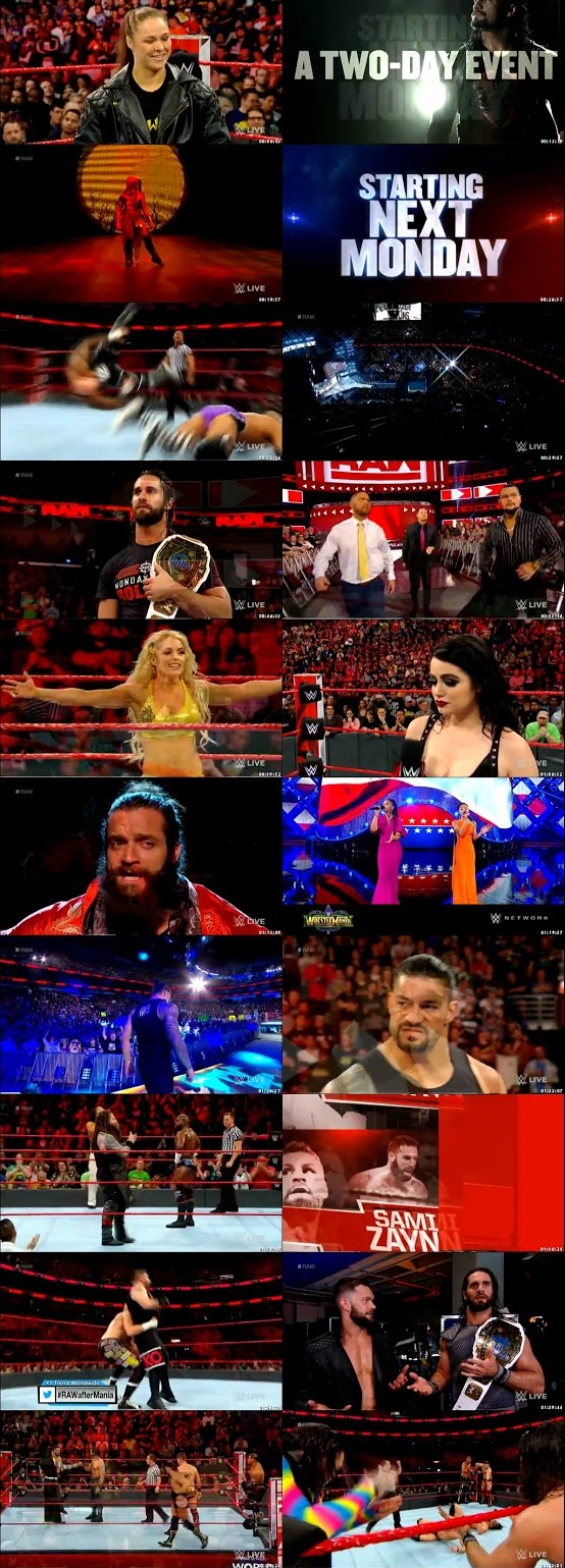 WWE Monday Night RAW 09 April 2018 720p HDTV 1.1Gb x264