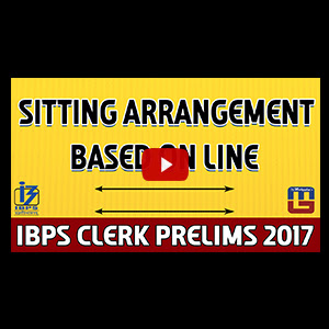 Sitting Arrangement | Reasoning | IBPS Clerk PRE 2017