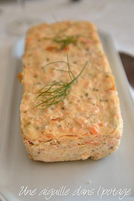 Terrine aux deux saumons, mayonnaise à l'aneth