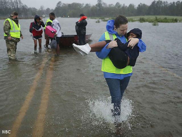 Badai Florence Mencapa Wrightsville Beach di North Carolina