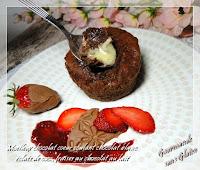 Moelleux chocolat coeur coulant sans gluten