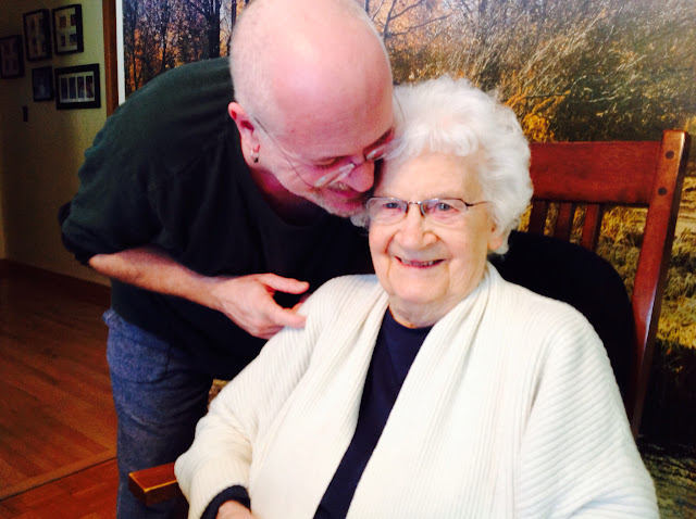 Pete and his Mom - his biggest fan, she will be 89 this year!