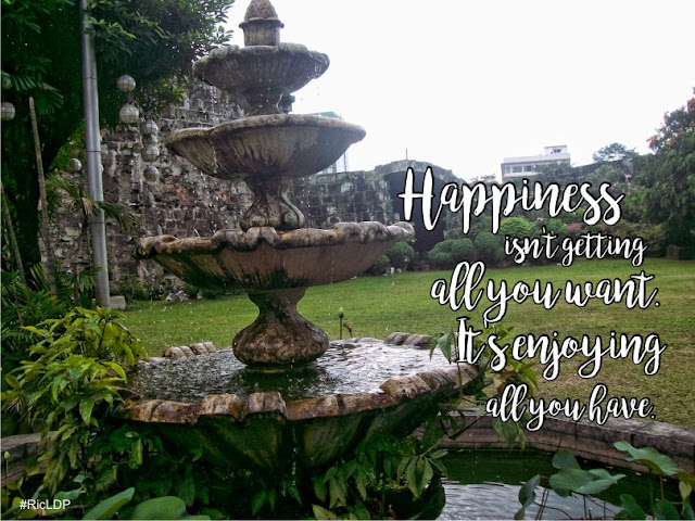 happiness isnt getting all you want