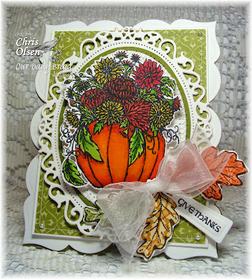 Stamps - Our Daily Bread Designs Fall Flower Pumpkin, ODBD Custom Pumpkin & Flowers Die, Autumn Blessings, ODBD Custom Fall Leaves and Acorn Die