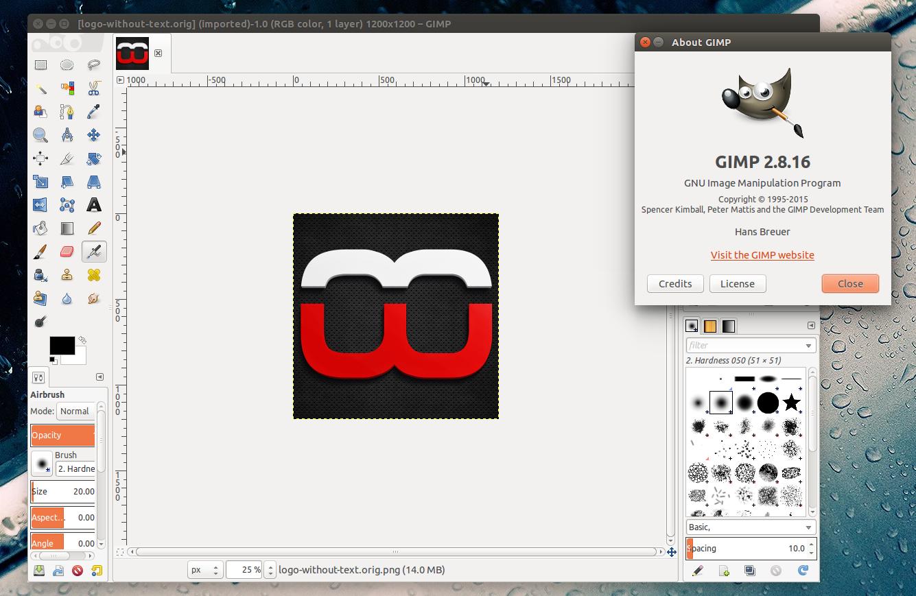 install gimp 2 in ubuntu or linux mint via ppa web upd8 ubuntu linux blog. Black Bedroom Furniture Sets. Home Design Ideas