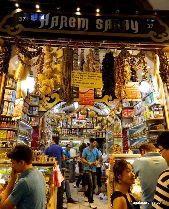 Bazar Egípcio de Istambul, Turquia