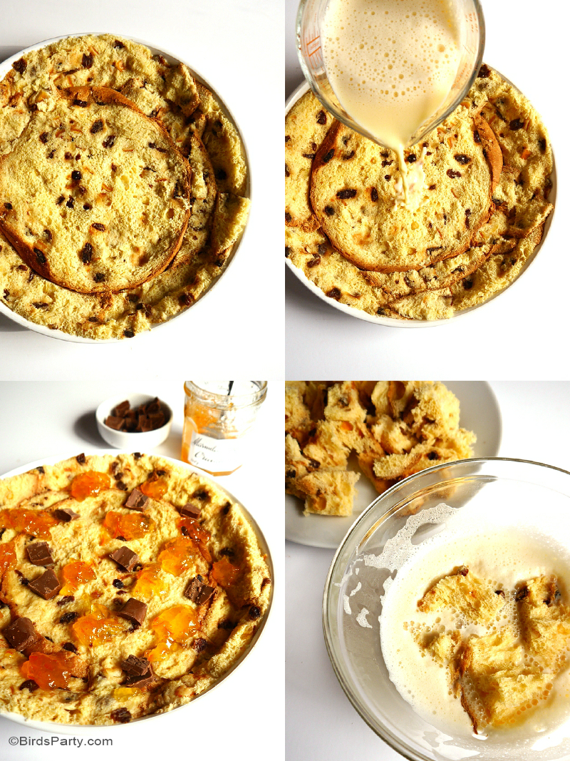 Brunch Recipe: Panettone, Chocolate & Marmalade Tart - BirdsParty.com