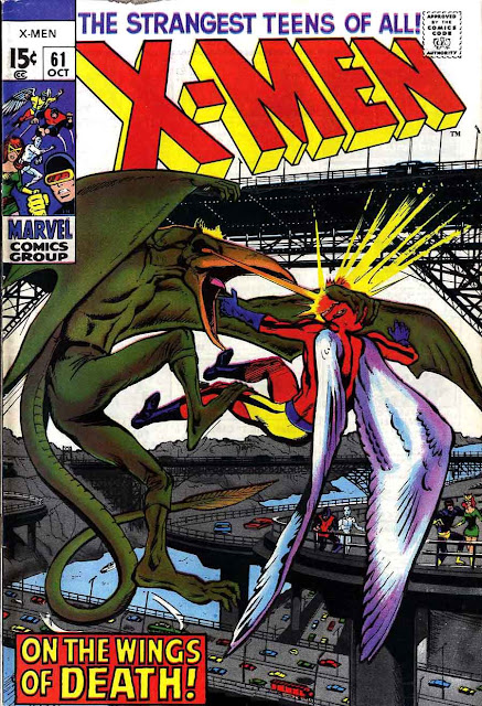 X-men v1 #61 marvel comic book cover art by Neal Adams