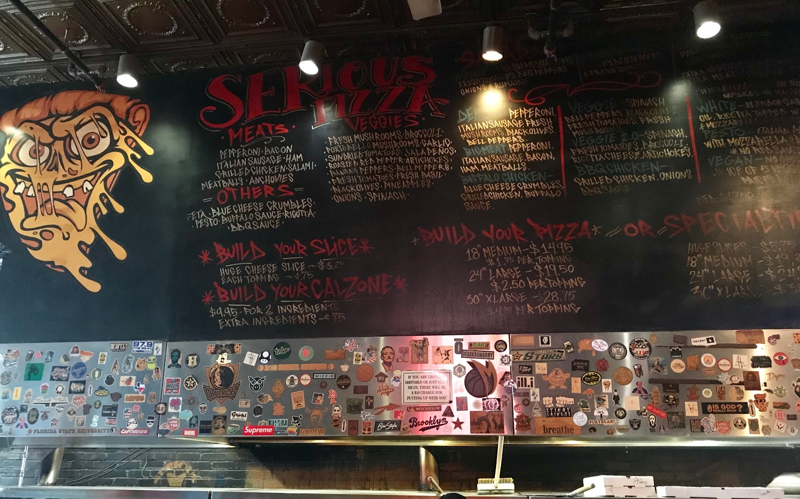 Image: Serious Pizza Menu .