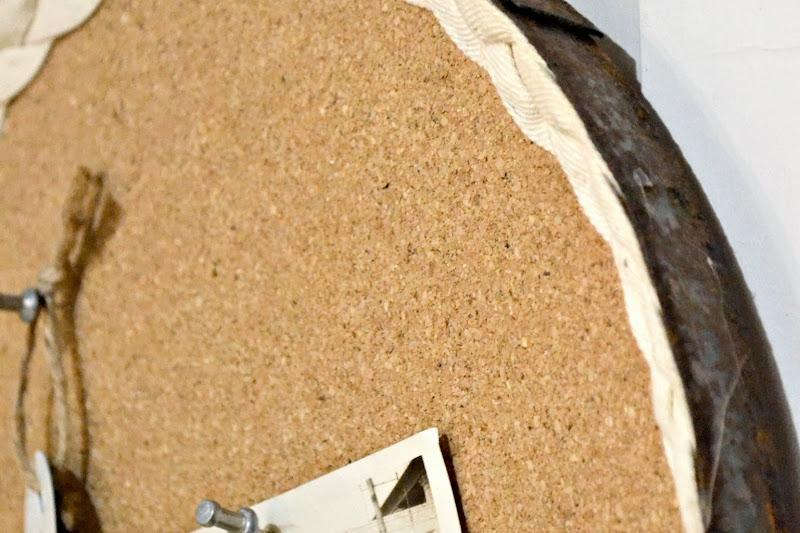 Rusty Barrel Strap Cork Board