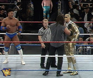 WWF / WWE SURVIVOR SERIES 1996: The Rock Rocky Maivia against Goldust and Crush