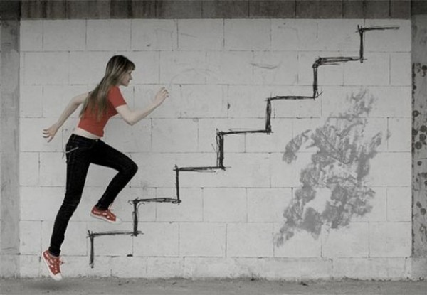 forced perspective illusion optical illusions artists photographer perception foto climbing amazing funny photograph stairs drawing examples persective tirar para qoolwellstuff