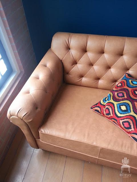 brown cognac sofa, tufted leather sofa