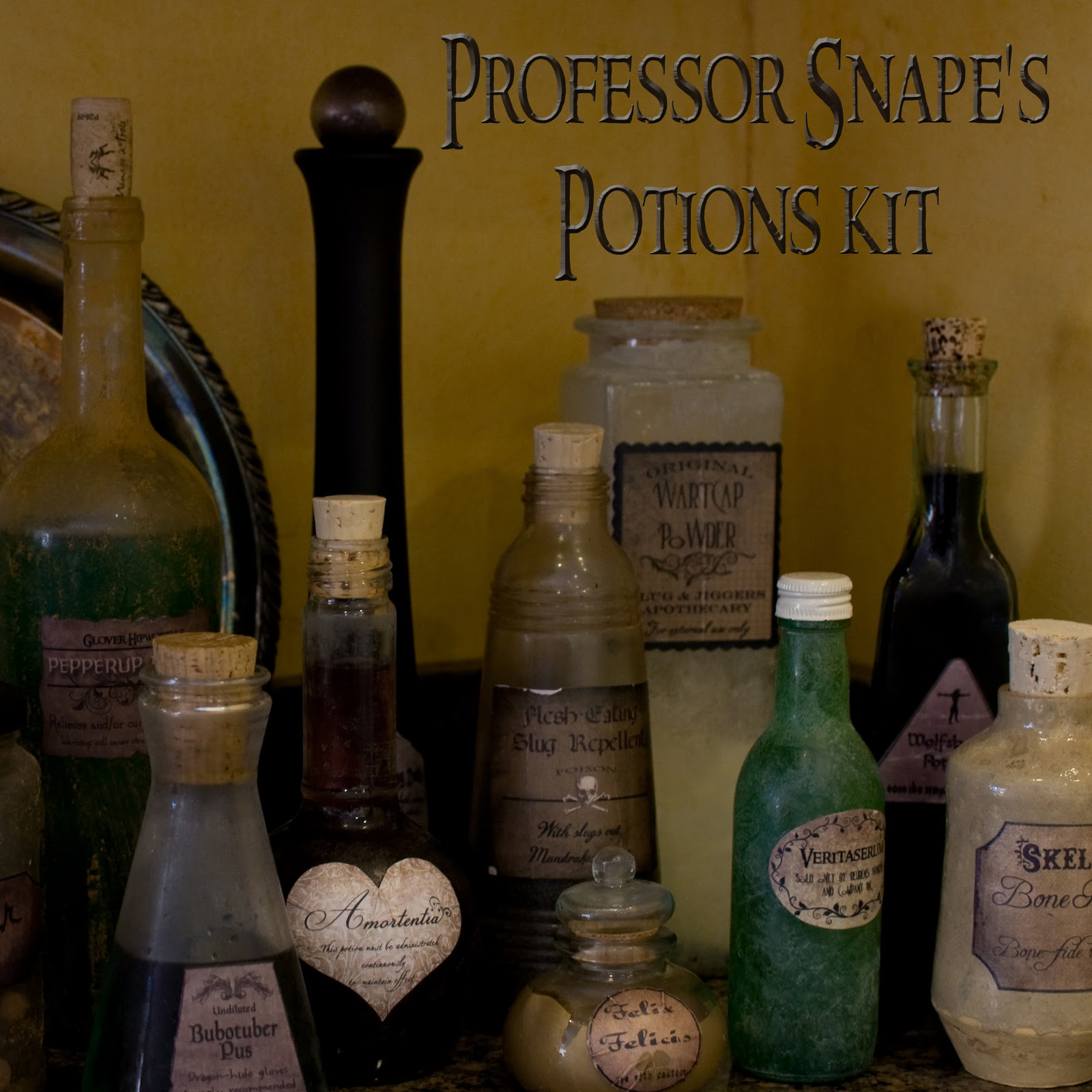 Halloween Decor Harry Potter Potion Bottles