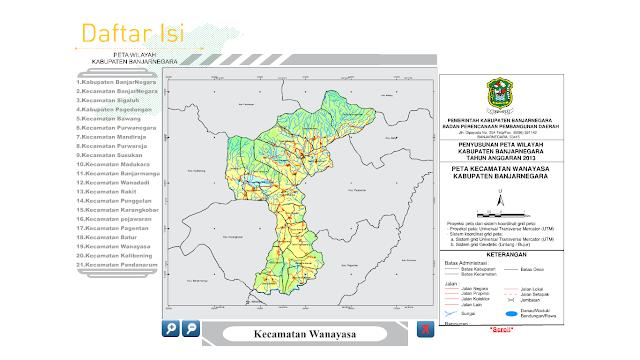 Aplikasi Peta Kabupaten Banjarnegara - Banjarnegara Backpacker