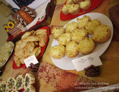 Woodland Creature Baby Shower food mac and cheese bites