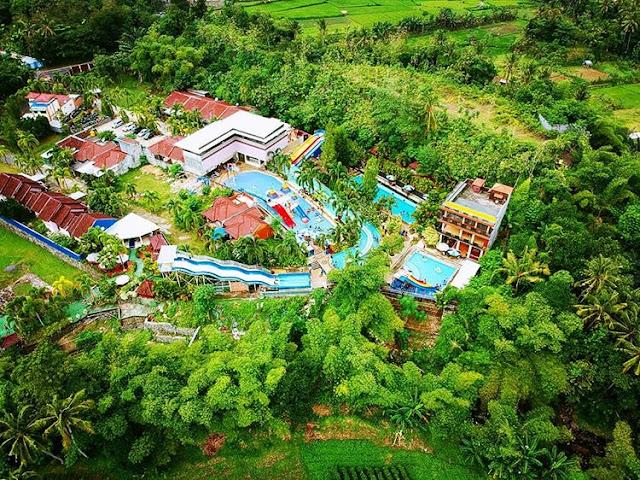 Foto Udara Cafless Waterpark Lombok, sumber ig @suherman_carmen
