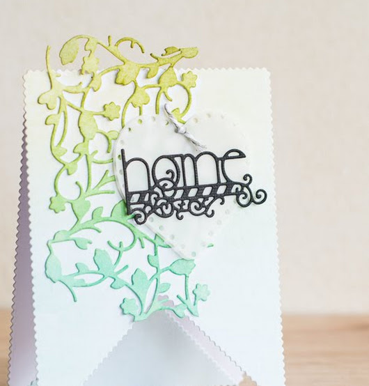 Tonic Studios | Home card using Patterned Panels dies