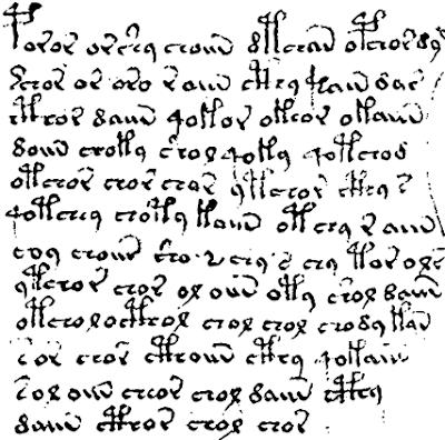 Manuscrito Voynich. Fragmento