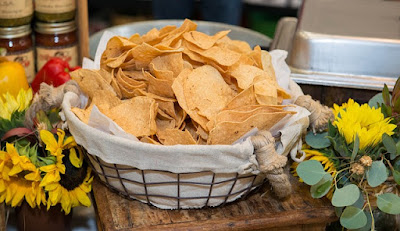 Huge Bowl of Homemade Fried Corn Chips