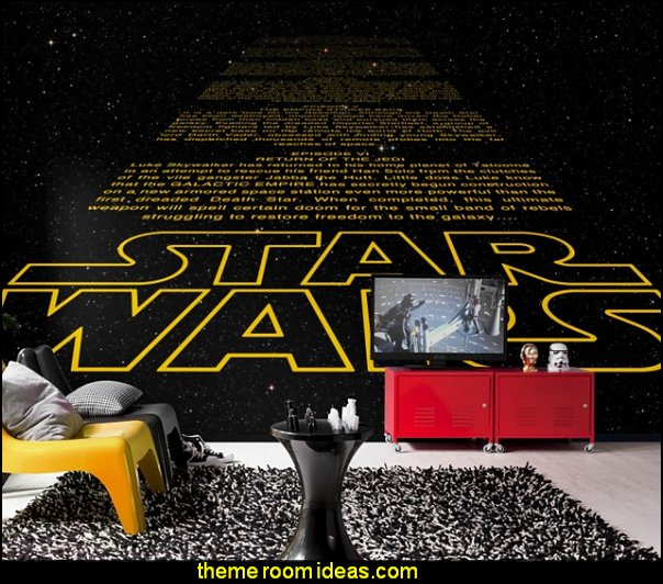 star wars mural Photo Wallpaper STAR WARS INTRO Wall Mural stars wars wall murals