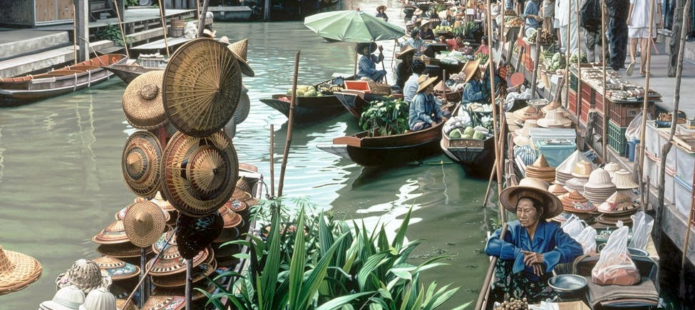 15-Floating-Market-Bangkok-Thailand-Anthony-Brunelli-Cities-&-Architecture-seen-through-Paintings-www-designstack-co