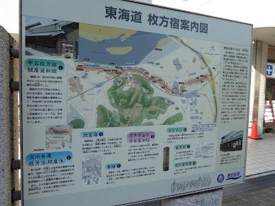 東海道 枚方宿案内図