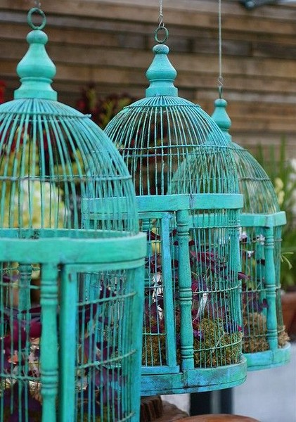 Dishfunctional designs decorating with bird nests birdcages for Dishfunctional designs garden
