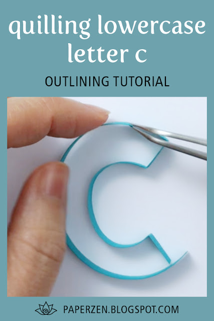 quilling letter c monogram tutorial pattern free