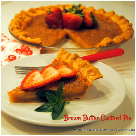 Brown Butter Custard Pie
