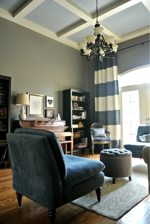 Living Room Like A Library: Design Dump: Before + After: E-design Library/music Room