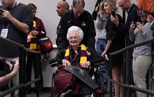 Sister Jean is Embracing Her Role as the Face of Loyola-Chicago, NCAA Tournament