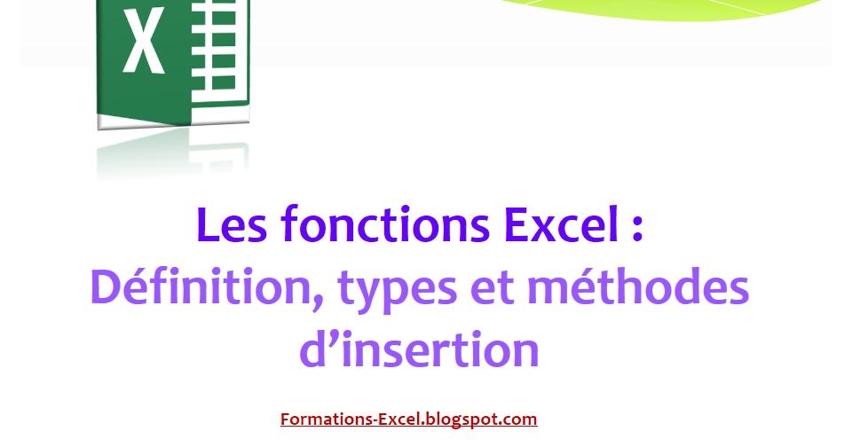 les fonctions d'excel pdf
