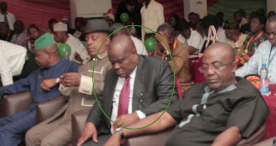 governor nyesom wike sleeping