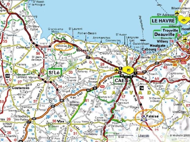 Map Of Drop Zones In France.Adys Blog Trevieres Normandy