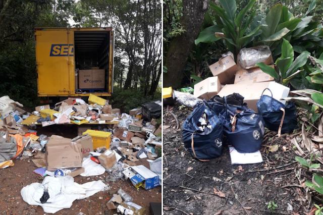Caminhão roubado dos Correios é interceptado pela Guarda Civil de São Paulo, região do Sapopemba, Zona Leste