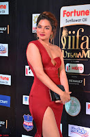 Natasha Nebasha in a Leg Slit Sleeveless Stunning Red Gown at IIFA Utsavam Awards 2017 028.JPG